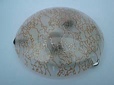 Светильник потолочный накладной диаметр 25 см Мрамор-золото под одну лампу, фото 2
