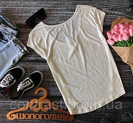 Деликатная футболка из полупрозрачного меланжа  TS1643