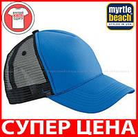 Пятипанельная кепка тракер Ретро цвет ЯРКО-СИНИЙ / ЧЕРНЫЙ MB6550