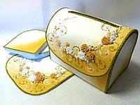 Сундучок свадебный для денег, цвет золотой