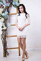 Красивое женское белое платье Ажур ТМ Irena Richi 42-48 размеры