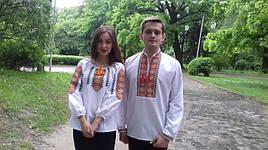 Сорочка вышиванка мужская Этно ромбы