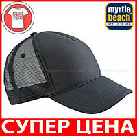 Пятипанельная кепка тракер Ретро цвет ЧЕРНЫЙ / ЧЕРНЫЙ MB6550