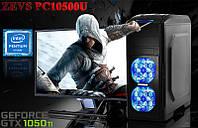 Игровой Монстр ПК ZEVS PC10500U G4560 + GTX 1050TI +8GB DDR4 +ИГРЫ +Клавиатура +Мышка!!