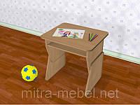 Одноместный регулируемый стол с полкой (550*450*h)