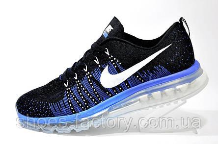 Кроссовки мужские в стиле Nike Flyknit Air Max, Dark Blue\Black, фото 2
