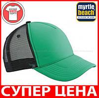 Пятипанельная кепка тракер Ретро цвет ЗЕЛЁНЫЙ / ЧЕРНЫЙ MB6550