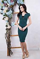 Изысканное женское зеленое платье Футляр ТМ Irena Richi 42-48 размеры