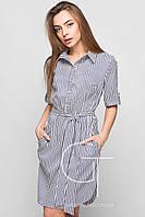 Платье-рубашка молодежное Цвет синий 44-50 размеры
