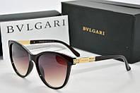 Солнцезащитные очки Bvlgari коричневые, фото 1