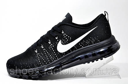 Кроссовки мужские в стиле Nike Flyknit Air Max, Black, фото 2