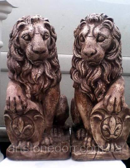 Скульптура Львы из бетона 40 см