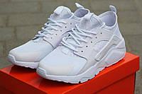 Мужские кроссовки Nike Huarache, белые / кроссовки мужские Найк Хуарачи, плотная сетка, удобные