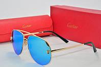 Солнцезащитные очки Cartier голубые