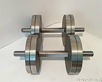 Гантели наборные, разборные две по 16 кг. (сталь без покрытия)