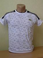Подростковая однотонная футболка c декоративной вставкой  и принтом Dolce&Gabbana оптом