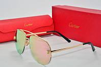 Солнцезащитные очки Cartier розовые