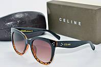 Солнцезащитные очки круглые Celine коричневые