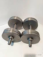 Гантели наборные, разборные две по 18 кг. (сталь без покрытия)