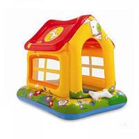 Надувной домик для детей Intex 57429 Любимый щенок, размер 142х117х122 см, бортик 14 см возраст 1+