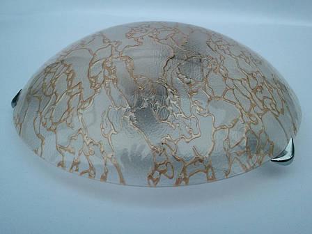 Светильник потолочный накладной диаметр 30 см Золото-мрамор двух ламповый, фото 2