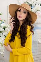 Стильная соломенная шляпа с широкими полями в 2х цветах 1700/1