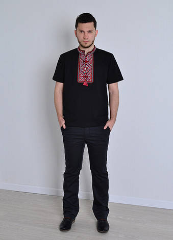 Чоловіча футболка вишиванка чорна