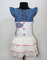 Платье с джинсовой вставкой для девочки