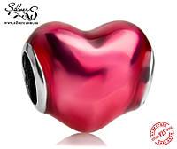 """Серебряная подвеска-шарм Пандора (Pandora) """"В моем сердце"""" для браслета"""