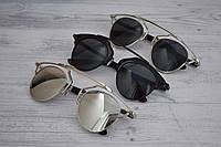 Солнцезащитные очки кошачий глаз зеркальные копия Dior