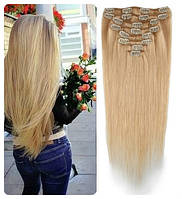 Волосы трессы ТЕРМо на заколках набор из 7 прядей 60 см №27\613
