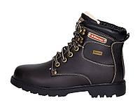 02-19 Черные женские ботинки на толстой рельефной подошве American Club 1507