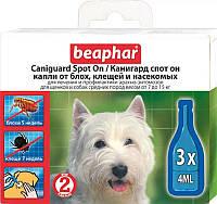 Caniguard Spot On капли от блох и клещей для щенков и собак средних пород Beaphar