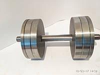 Гантели наборные, разборные две по 22 кг. (сталь без покрытия)
