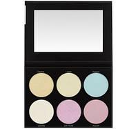 Палетка хайлайтеров Blacklight Highlight - 6 Color Palette BH Cosmetics Оригинал