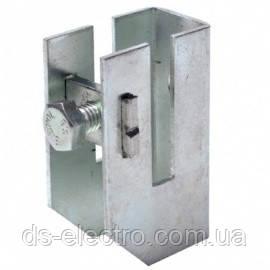 Скоба-держатель полосы с болтом DKC ND2312ZC, сталь оцинкованная