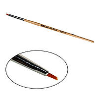 Кисть для росписи, скошенная,  деревянная ручка
