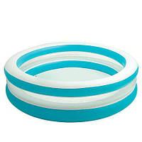 Детский надувной бассейн Intex 57489 See-Through Pool, размер 203х51 см, 630 л, сливной клапан