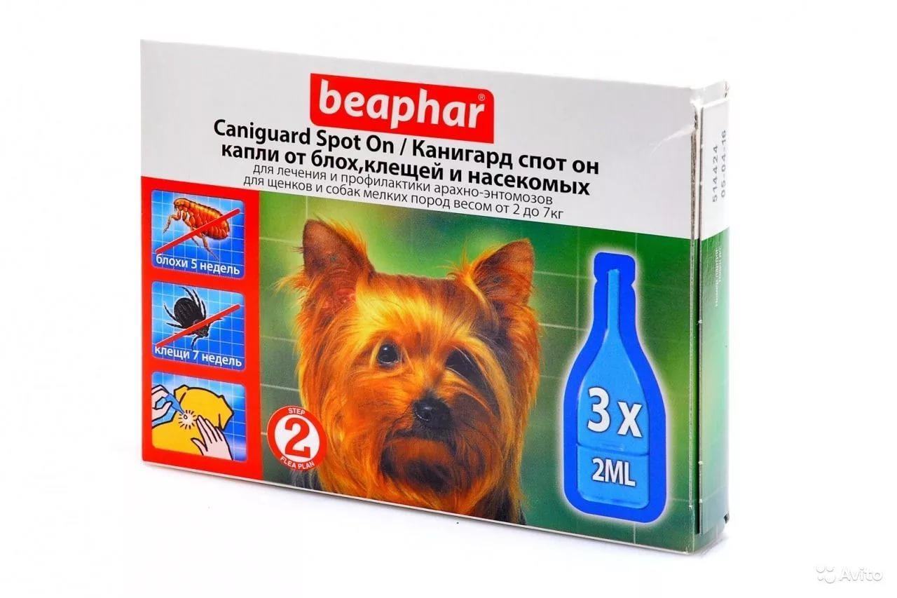 Caniguard Spot On капли от блох и клещей для щенков и собак мелких пород Beaphar