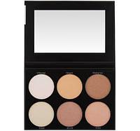 Палетка хайлайтеров и бронзеров Spotlight Highlight - 6 Color Palette BH Cosmetics Оригинал
