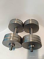 Гантели наборные, разборные две по 24 кг. (сталь без покрытия)
