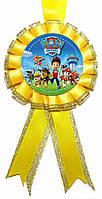 """Медаль детская """"Щенячий патруль"""". Диаметр с бантом: 85мм."""