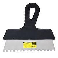 Шпатель Sigma нержавеющий зубчатый 250мм 8х8 (8321271)