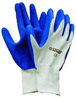 Перчатки трикотажные с частичным латексным покрытием Sigma (манжет хб) (9224101)