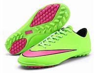 Сороконожки Nike Mercurial Victory V Turf Green/Hyper Punch/Blk/Volt