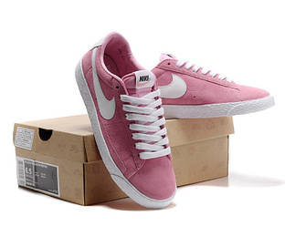 Кеды Nike Blazer Low Pink Розовые женские