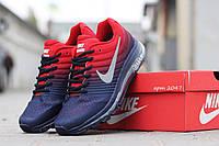 Мужские кроссовки Nike AIRmax (синий с красным)