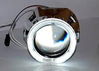 """Би линза Infolight G5 электромагнитная шторка переключения дальний-ближний. Маска с """"ангельскими глазками"""""""