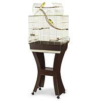 АЙМАК МАТИЛЬДА клетка для попугаев с подставкой, пластик, латунь