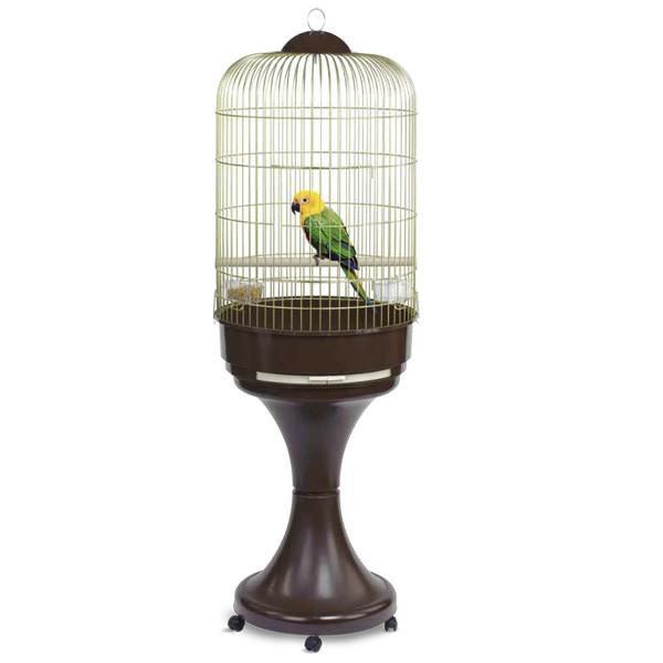 Imac АЙМАК ЛОРИ клетка для попугаев с подставкой, пластик, латунь